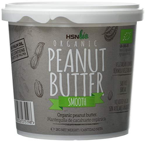 HSN Bio - Mantequilla Cacahuete Orgánica - 100% Bio- Organic Peanut Butter Smooth - Apto para Vegetarianos- Sin Aceite de Palma- Sin Grasas Trans, sin azúcar ni sal añadidos 1000gr