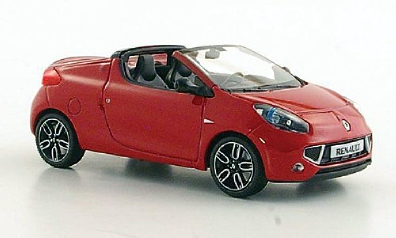 salida de fábrica Renault Wind, rojo, 2010, Modelo de Auto, modello modello modello completo, Minichamps 1 43  liquidación hasta el 70%