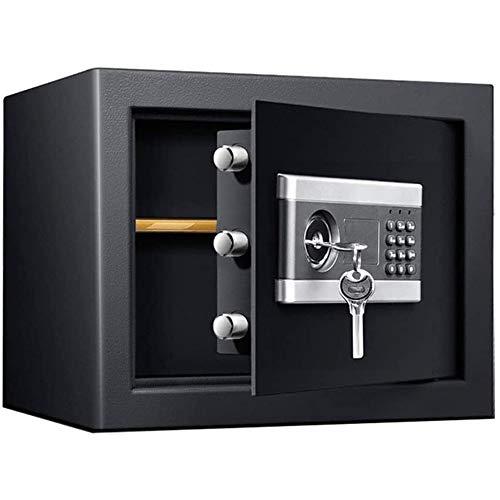 IGLZ Negro Cajas Fuertes, Micro Carbono del Acero de aleación de Materiales Resistentes al Fuego, y Drillproof Burglarproof Fuerte, Clave y contraseña Combinación pequeña Caja Fuerte
