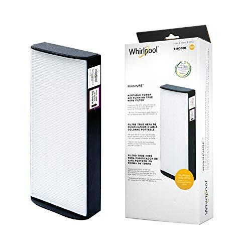 Whirlpool 1183600 - Genuine True HEPA Filter Replacement - Fit Air Purifier Portable Tower WPT60 - Medium