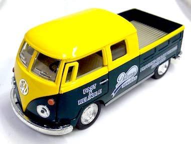 KiNSMART フォルクス・ワーゲン ワーゲンバス ピックアップ デリバリー 1/34 1963 VW Bus Double Cab Pick...