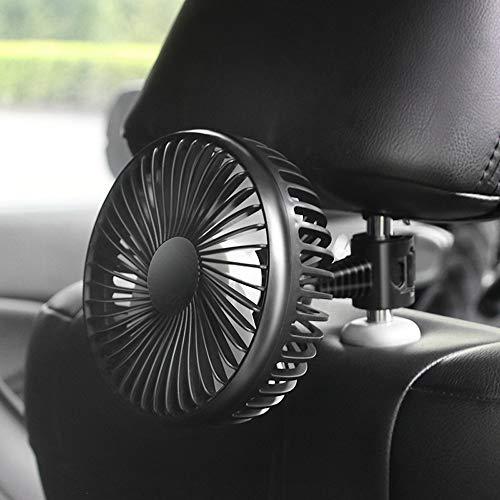 Kshzmoto 12 V / 24 V 360 Grados Todo-Redondo Ajustable Automóvil Ventilador de Enfriamiento de Aire Ventilador de Bajo Ruido Enfriador de Aire Ventilador de Aire Accesorios de Ventilador