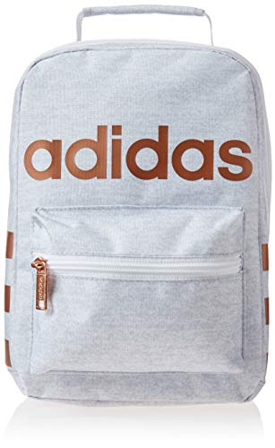 adidas Unisex Santiago Insulated Lunch Bag, White Jersey/ Rose...