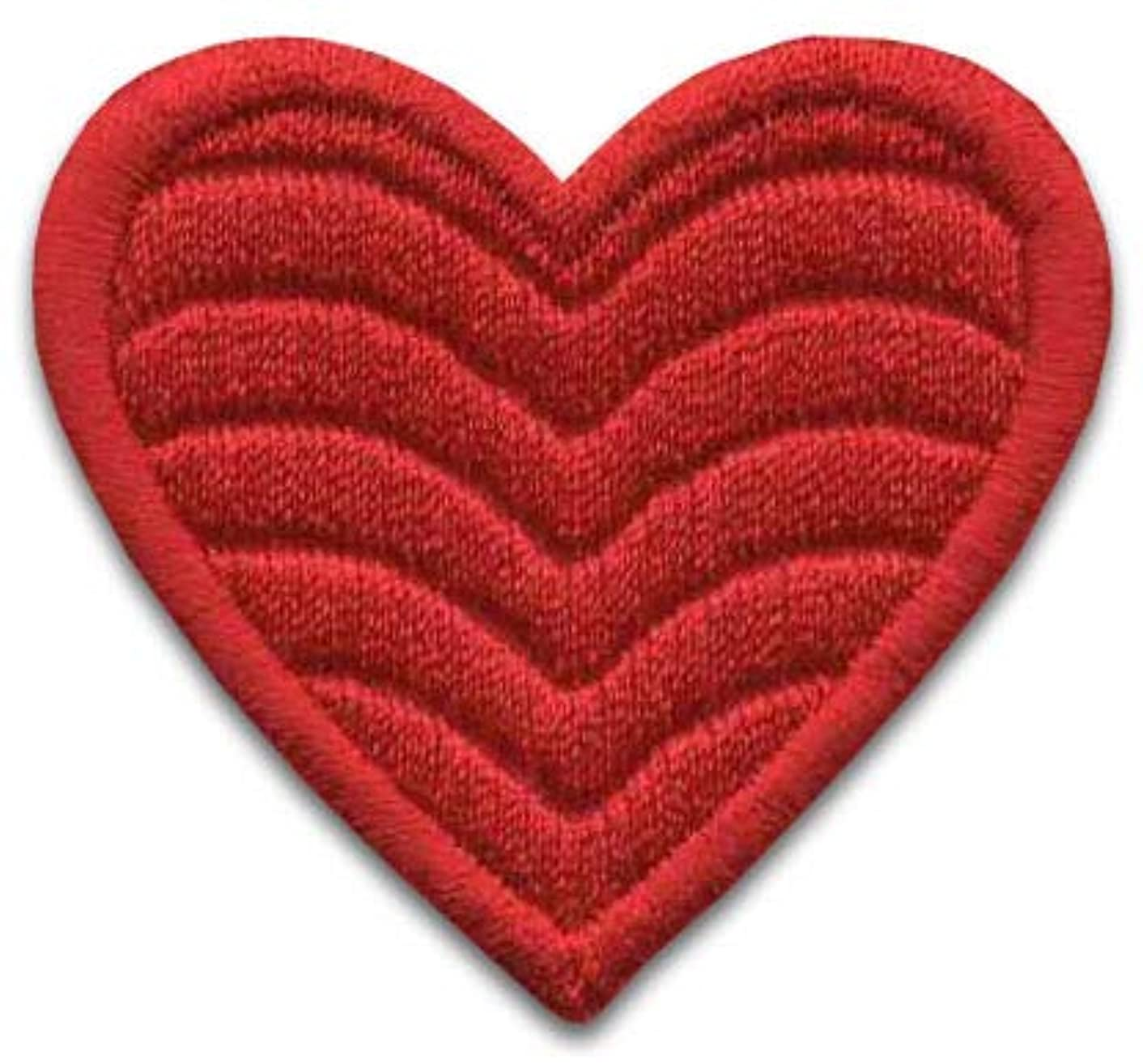Iron On Patches - Red Heart Patch Iron On 6 pcs Patch Embroidered Applique Heart (1,85x1,96inch) S-33