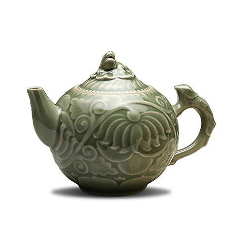 Porzellan Kung Fu Tee Teekanne Schnitzgriff In Phoenix Chinesische Teekanne Tee-Set Für Tee Kaffee Trinken 800Ml