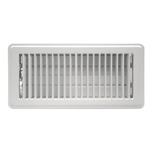 Rocky Mountain Goods Floor Register 4X12(Duct Opening Measurements) - Heavy Duty Walkable Register - Premium Finish - Easy Adjust air Supply Lever - 4 inch by 12 Inch Floor Vent (White)