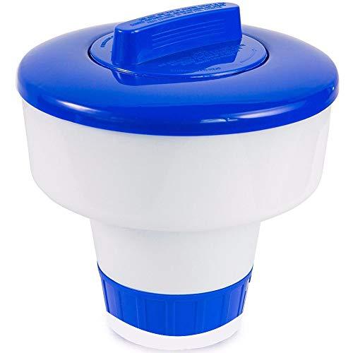 Chlor Dosierschwimmer für den Pool - 8 inch - Chlorspender zur dosierten Abgabe von Poolzusätzen - Schwimmender Spender