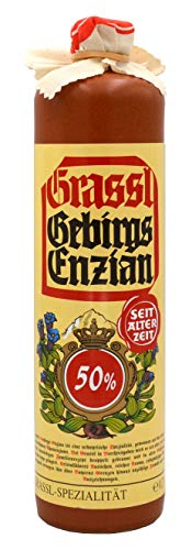 Grassl Gebirgs-Enzian 50% vol, Steinkrug 0,7l