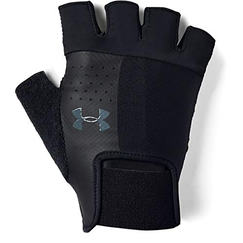 Under Armour UA Men's Training Glove Hombre, Guantes sin Dedos, Negro (Black/Black/Pitch Gray), L