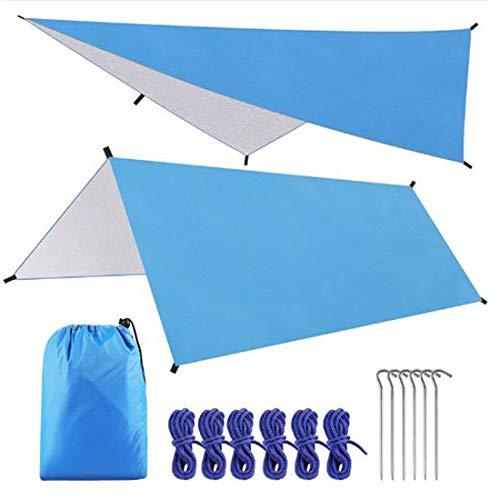 EAR PADZ Hammock Rain Fly Tent Tarp Waterproof Windproof Snowproof Camping Shelter Portable Lightweight Basha Sunshade for Snow Sunshade for Camping Outdoor Travel (3m x 3m)