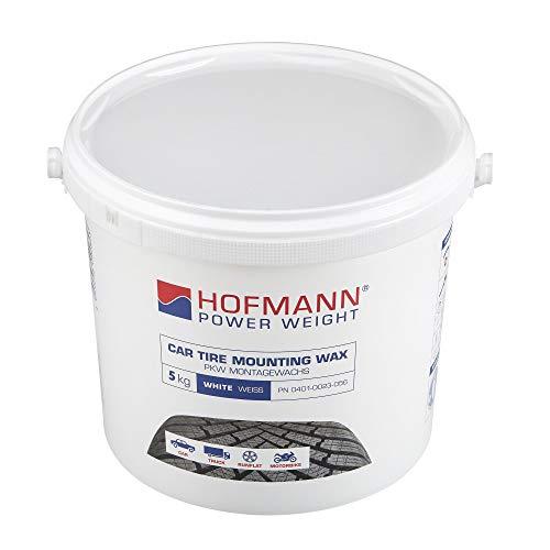 Hofmann Power Weight Pâte de Montage des pneus, Blanche 5kg   Pâte de Montage des pneus, Blanche   Outil de Montage et démontage des pneus