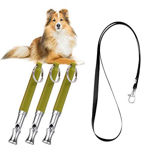 PETCUTE Silbato para Perros ultrasonido Silbato antiladridos Silbato para Perros adiestramiento con cordón 11 Paquete con Sonido Ajustable