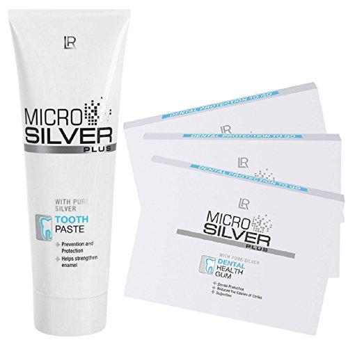 LR Microsilver Plus Zahnpflege-Set (75 ml Zahncreme und 3er Pack Kaugummis)