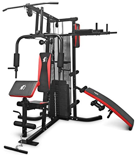 Fit4home Multi Gym Workout Station | Home Fitness Body Exercise Machine | Total-body Workout | Multifunctional Workout Station | TF-7005A, (81.64 KG) (Misc.)