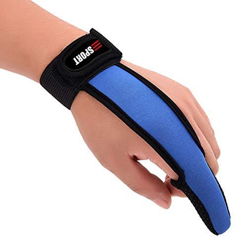Millya Professional - Guantes de Pesca Antideslizantes con Banda elástica para un Solo Dedo, Hombre, Color Azul, tamaño Talla única
