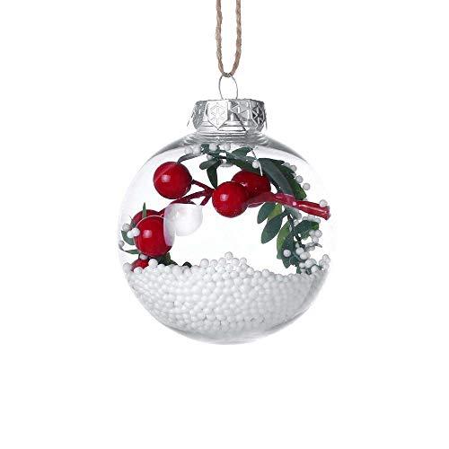Bille de décorations de Noël,Covermason Boule de décoration de Noël Suspendue avec Pendentif Arbre de Noël (F)