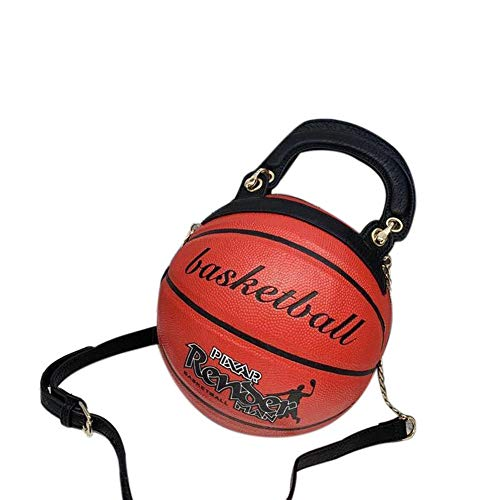 Basketballförmige Handtasche, runde Umhängetasche, Basketball-Stil personalisierte Handtasche, Herren und Damen Kette Diagonale Tasche, Schulterkette Diagonale Tasche