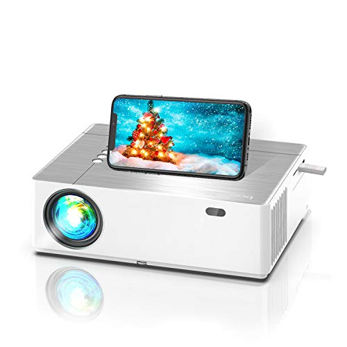Bomaker Proiettore 7200 Lm, Videoproiettore Supporta 4K Nativo Full HD1080P, ± 50° Correzione Trapezoidale Zoom, 300''Display/Dolby/2 USB/2 HDMI/SD/AV/VGA Per Office Work e Film all'Aperto, Parrot Ⅰ