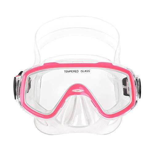 Kinder Schnorchelbrille Taucherbrille Schwimmbrille Tauchmaske für Mädchen, Jugendliche von 3-9 Jahren, Tempered Glas