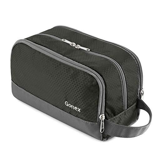 Gonex Travel Toiletry Bag Nylon, Dopp Kit Shaving Bag Toiletry Organizer Gray