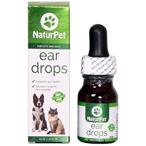 NaturPet Ear Drops for Dogs & Cats | Use for Cleaning, Prior to...