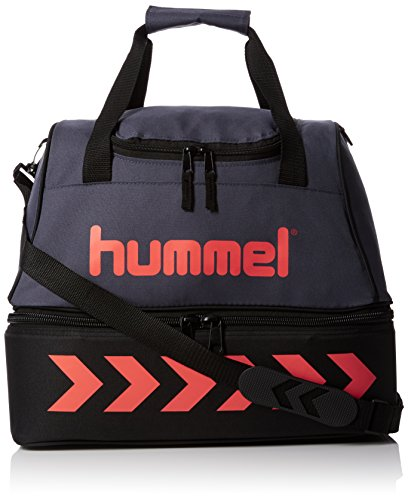 hummel Kinder Authentic Soccer Bag Tasche, Ombre Blue/Nasturtium, 42 x 37 x 27 cm