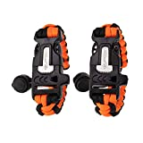 PARACORD PLANET – Survival Paracord Bracelet (2 Pack) – Adjustable Strap – Safety Features for Outdoor Activities – Loud Whistle, Fire Starter, Scraper for Cutting – Fishing, Camping, Hunting