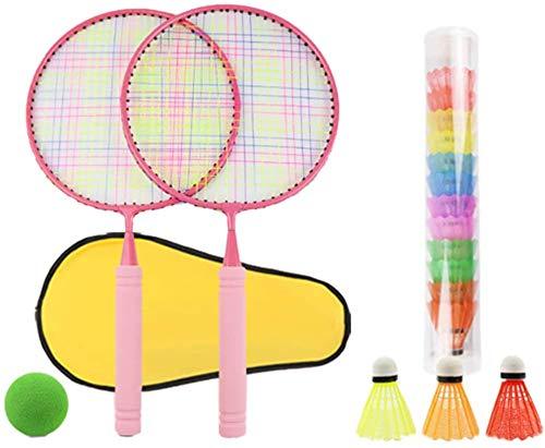 Panelk Deportes al Aire Libre de los niños de Raqueta, la Raqueta de bádminton Juguetes y Bola de Tenis de los niños 2 en 1 Grupo,Pink