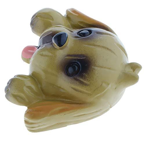 LOVIVER Protección del Enchufe de La Etiqueta Engomada de La Cubierta del Interruptor de La Luz de La Resina Linda Creativa 3D - Perro, Individual