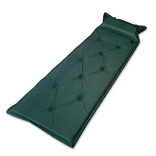 Confortable Outdoor randonnée Camping Pique-nique automatique Date Bulles Air Matelas Tapis de pique-nique pour seule personne Camping avec sac de rangement, vert