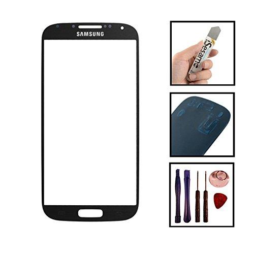 Inobit Datensysteme Frontglas in SCHWARZ inkl. Klebefolie und Werkzeug, kompatibel mit Samsung Galaxy S3 i9300 (i9305)