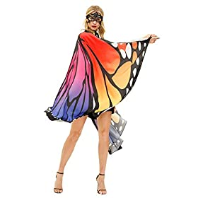 Butterfly Wings Costume Adult Halloween Butterfly Cape Costume Women Festival Party