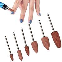 6本の爪研削ヘッド、マニキュアビット、家庭用ネイルサロンジェルネイルキューティクルのカルスを削除(Set 05)