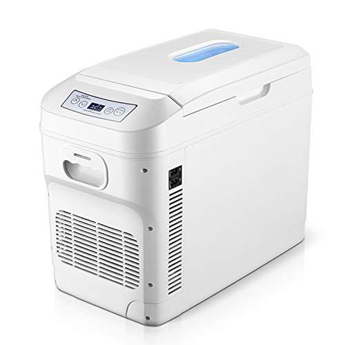 MNCYGJ Frigorífico para Coche De 28L Mini Frigorífico Camping 12V / 220V Pequeño Minibar Frigorífico Retro con Congelador, con Función De Refrigeración Y Calefacción con Indicador De Temperatura