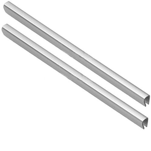 spares2go Untere Schublade Korb Besatz für hotpoint-ariston Kühlschrank Gefrierschrank (Silber, 2Stück)