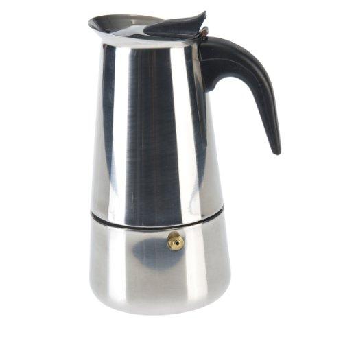 Axentia 223539 Espressokocher Edelstahl für 6 Tassen