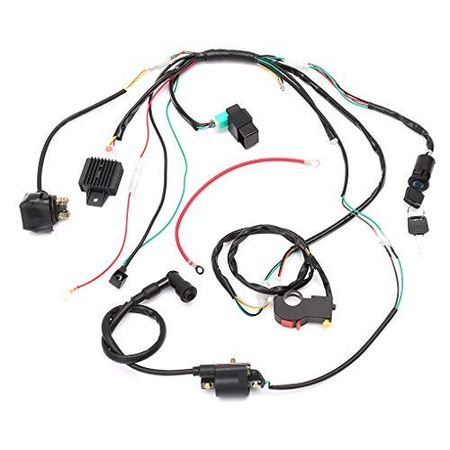 Fornateu Komplette E-Start-Motorkabelbaum Loom Magnetspule Regulator 110 125er Quad ATV Buggy
