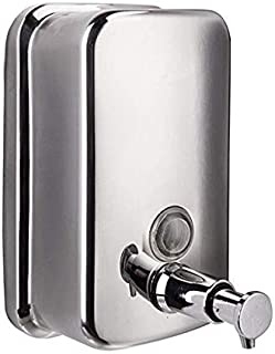 TBAO 800ml-29oZ Large Copper Push Button ,Classic Series Surface-Mounted Stainless Steel Manual Wall-Mount Soap Dispenser for Bathroom Kitchen Marketplace Hotel Restaurant (800ml)