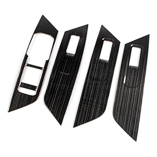 shiyi Lentejuelas De Panel De Interruptor De Elevación De Vidrio De Coches Lechacent Inner Armés Decorativo FIT FIT FOR Skoda KODIAQ 2016 2017 2018 Accesorios para Automóviles (Color Name : Black)
