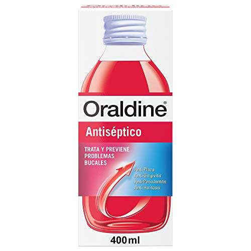 Oraldine Antiséptico, Colutorio de Uso Diario con Doble Poder Antibacterial - 400 ml