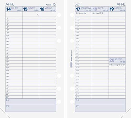 Brunnen 1074901001 Wochenkalendarium, Zeitplansysteme, 2021, 2 Seiten = 1 Woche, Blattgröße 9,3 x 17,2 cm