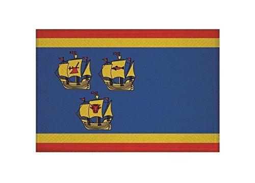 U24 Aufnäher Landkreis Nordfriesland Fahne Flagge Aufbügler Patch 9 x 6 cm