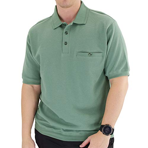 Classics by Palmland Short Sleeve Polo Shirt 6070-100 (XXL, Sage)