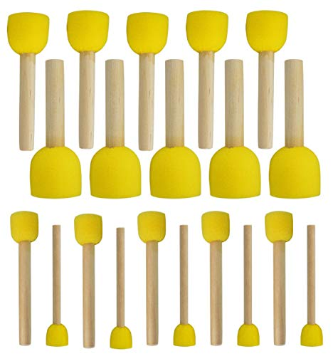 20-Pieces Assorted Size Round Sponges Brush Set
