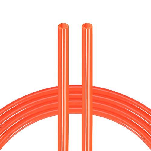 sourcing map Pneumatischer Luftschlauch, 6,5 mm Innendurchmesser x 10 mm Außendurchmesser x 8 m, Polyurethan-Rohr, helles Orange