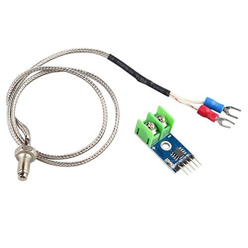 HALJIA Termopar tipo K con sensor de temperatura de Compatible con Arduino Raspberry Pi. Código MAX6675.