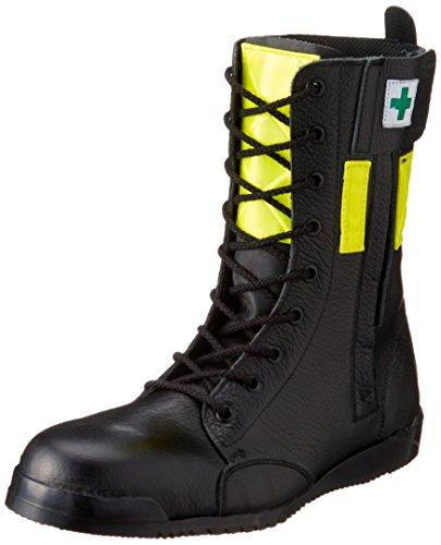 [ノサックス] 安全靴 高所用JIS規格 みやじま鳶長編上 高輝度反射付 M207反射付黄色 メンズ 黒 JP JP27cm(27cm)