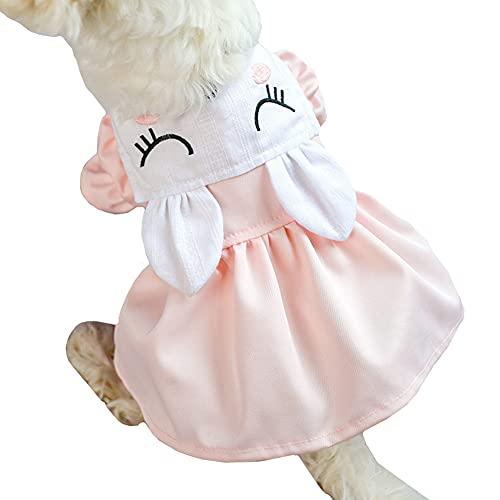 Disfraz De Perro Ropa para Perro Ropa para Cachorros Ropa para Gatitos Ropa para Mascotas Primavera Verano Falda De Conejo Vestido De Princesa para Varias Ocasiones Large,Pink