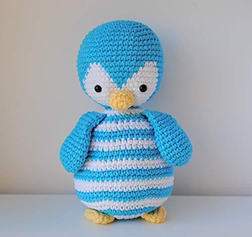 Pingouin peluche 27cm crocheté a la main Amigurumi Marshmallow Toys