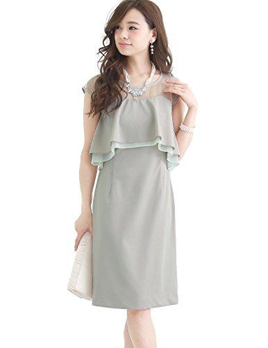 プールヴー パーティードレス ワンピース ドレス お呼ばれ 女子会 レディース ベージュ XLサイズ 13号